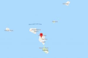 Mappa dell'arcipelago delle Isole Eolie. Provincia di Messina, Sicilia, Italia